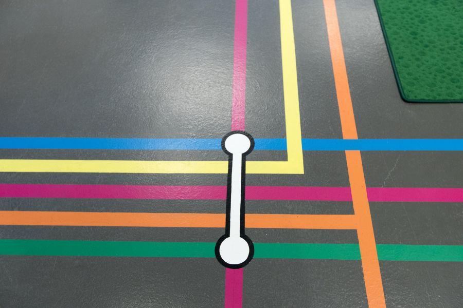 Leene kantoor metrokaart